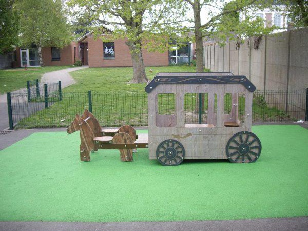 Jeux pour enfant en HPL attelage avec chevaux ecole NotreèDame Villeneuve dAscq scaled