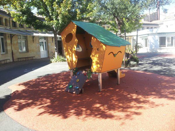 Structure de jeux maisonnette extérieure pour collectivités Ecole maternelle Argonne